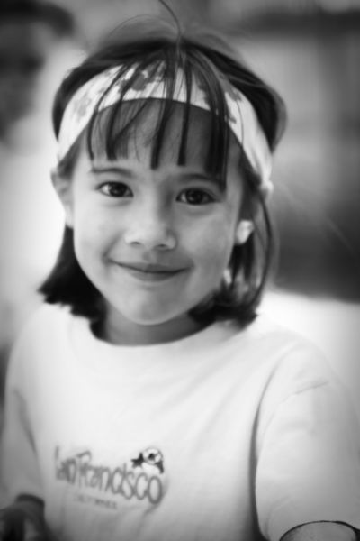 The headband shot BW